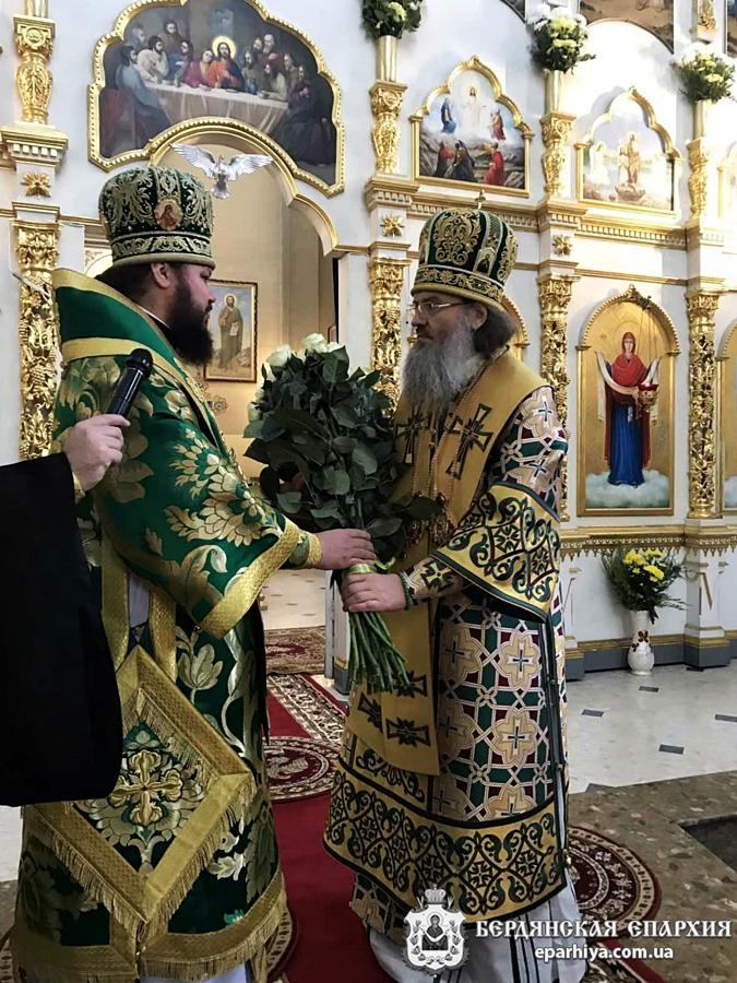 Архиепископ Ефрем принял участие в торжественном богослужении по случаю дня памяти прав.Петра Калнышевского