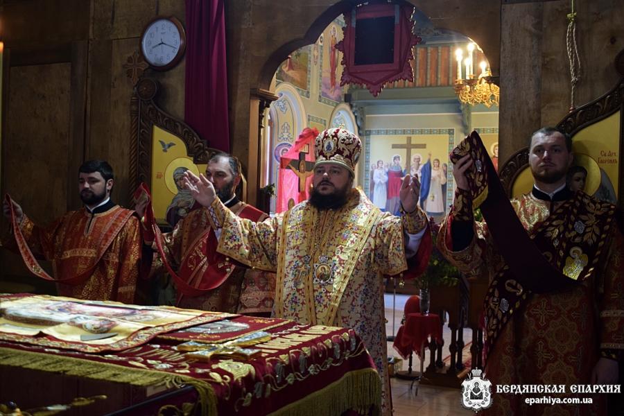 В епархии почтили память покровителей Бердянской земли