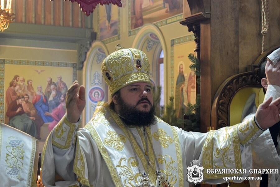 Правящий Архиерей возглавил торжества престольного праздника в Христо-Рождественском Бердянском кафедральном соборе